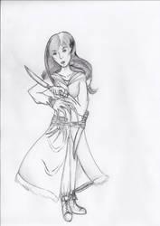 Sephira, Barbarian Undine by Kerropi