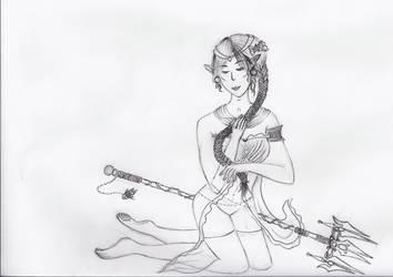 Sephira, Undine under the sea by Kerropi