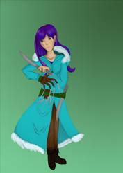 Sephira, Barbarian Undine with colour by Kerropi