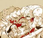 Dwarf fight by Arzuza