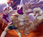 Street fighter Necro Vs Sagat by Arzuza