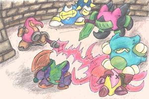 Gumdrop Knights Attack by MadGoblin