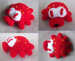 Red Octorok Amigurumi by MadGoblin