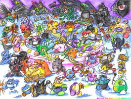 Siege on Rainbow Resort by MadGoblin