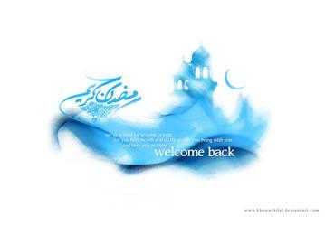 Ramadan Kareem greeting card by khawarbilal
