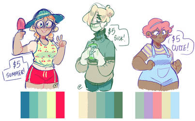 color palette adopts (OPEN) by HiGuysImGrace