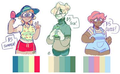 color palette adopts (OPEN) by SinnersAreWinners