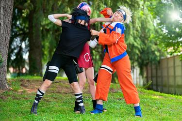 Naruto Team 7 Naruto Sasuke Sakura Cosplay By Tyaiel On Deviantart
