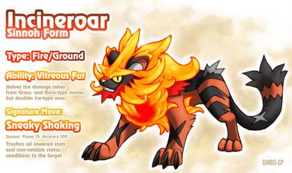Incineroar Sinnoh Form (Added description) by gimbo-gp