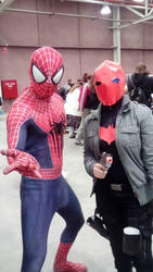 Spider-man and Red Hood by MyShadowSoul