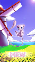 Pokemon 20th Anniversary- Mew by Sol-Lar-Bink