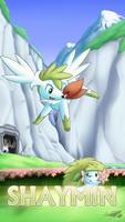 Pokemon 20th Anniversary- Shaymin by Sol-Lar-Bink
