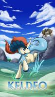 Pokemon 20th Anniversary- Keldeo by Sol-Lar-Bink