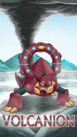 Pokemon 20th Anniversary- Volcanion by Sol-Lar-Bink