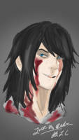 Rough sketch Jeff the Killer by xDigitalArtGirlx