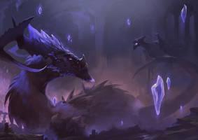 Amethyst dragon by Magnusss