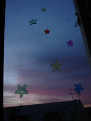 some stars on the rising sun by Izzzzzzy