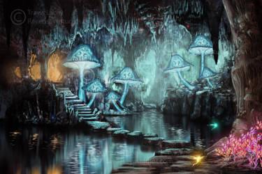 Mushroom cave by RavenseyeTravisLacey