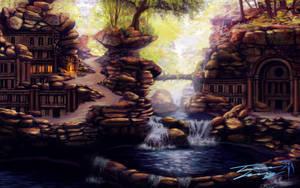 Abandoned refuge of the garudo by RavenseyeTravisLacey