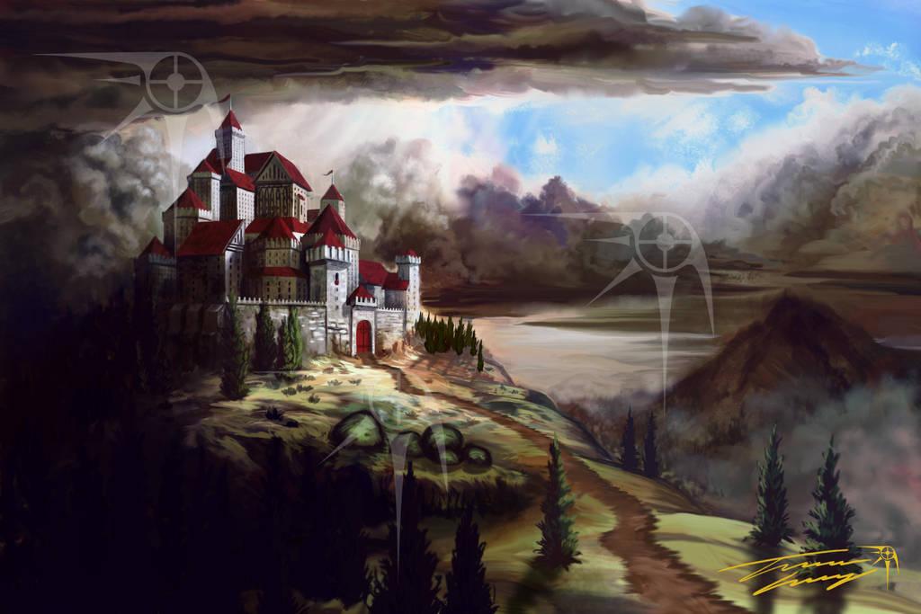 Castle below the sky by RavenseyeTravisLacey