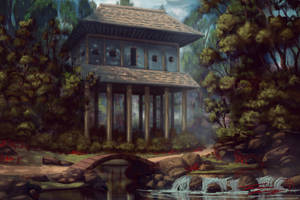 The Stilted monestary by RavenseyeTravisLacey