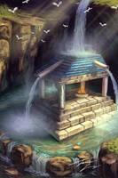 Water fall architecture by RavenseyeTravisLacey