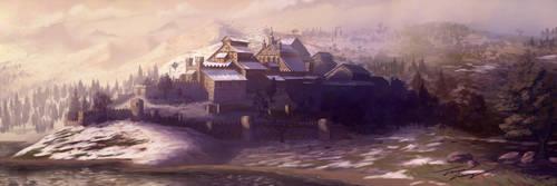 Castle on the hills by RavenseyeTravisLacey