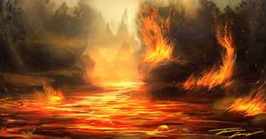 Lava fire by RavenseyeTravisLacey