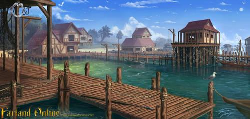 The Fishing Port by RavenseyeTravisLacey