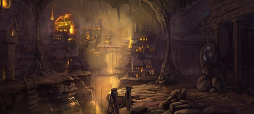 Elven City Landscape by RavenseyeTravisLacey