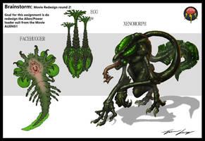 Brainstorm: Alien redesign by RavenseyeTravisLacey