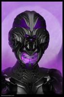 female sci fi Helmate Travis Lacey by RavenseyeTravisLacey