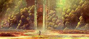 #Maysketchaday - 2018 - 07 - Waterfall by RavenseyeTravisLacey
