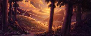 Prehistoric sunset by RavenseyeTravisLacey