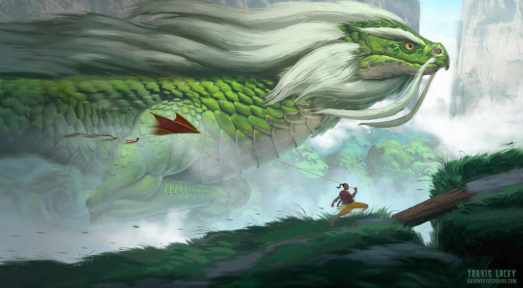 The elder dragon by RavenseyeTravisLacey