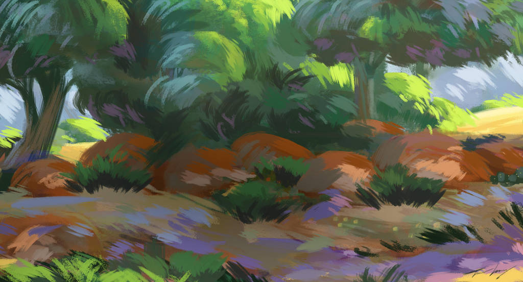 Loose Digital Painting by RavenseyeTravisLacey