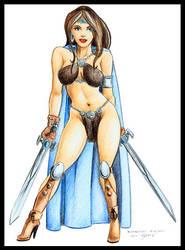 'Barbarian Princess' by erosarts