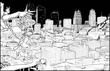 Magical Girl Over Kansas City by erosarts