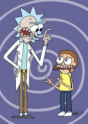 RICK AND MORTY by austoon