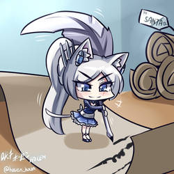 RWBY - Chibi Weiss~ Dear Santa, I want~ by HOSEN-HOSEN-HOCEN