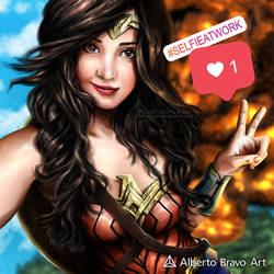 Wonder Woman Selfie by AlbertoBravo