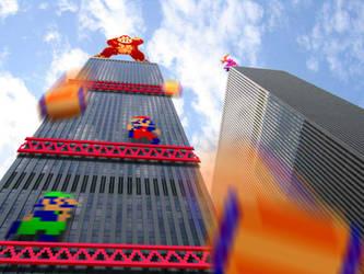 Retro Tower 'Donkey Kong' by RETROnoob