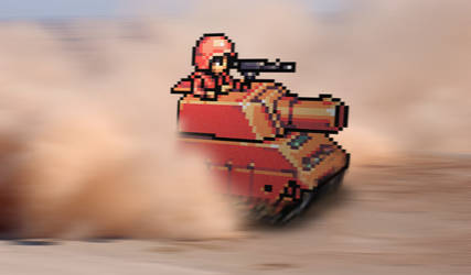 Retro Tank 'Advance Wars' by RETROnoob