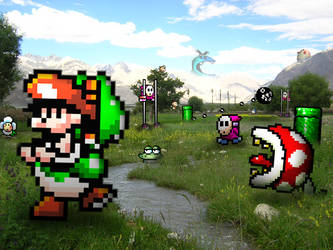 Retro Field 'Yoshi's Isl.' by RETROnoob