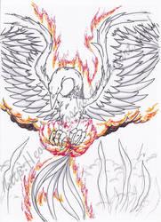 Burning Phoenix by Eolodeiboschi
