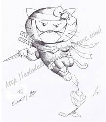 Hello Kitty Ninja by Eolodeiboschi