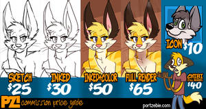 Commission Price Guide by portzebie
