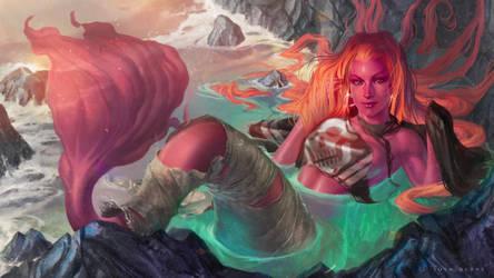 Mermaid and torn sails by JoshBurns