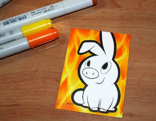 Pig inferno by Henrieke