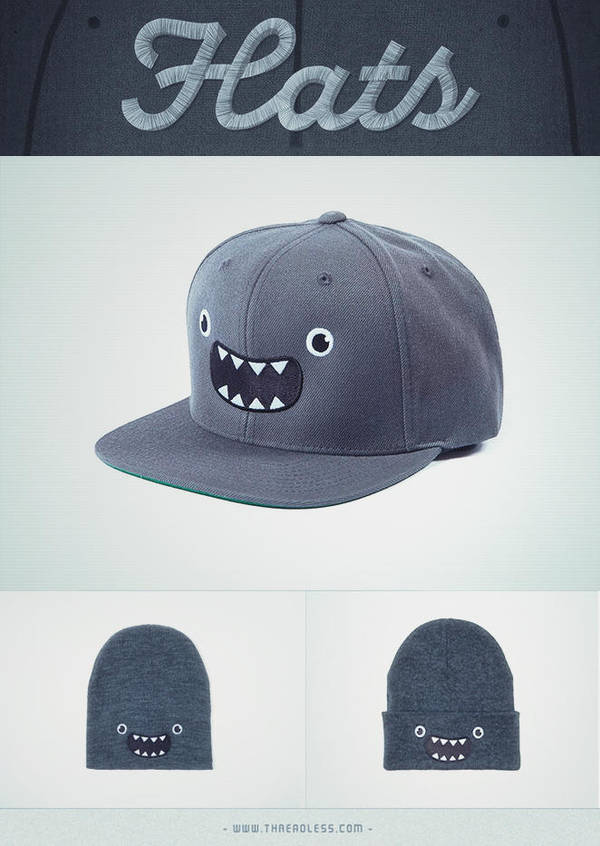 Cute Monster (snapback/ hats/beanies) @threadless by mrsbadbugs